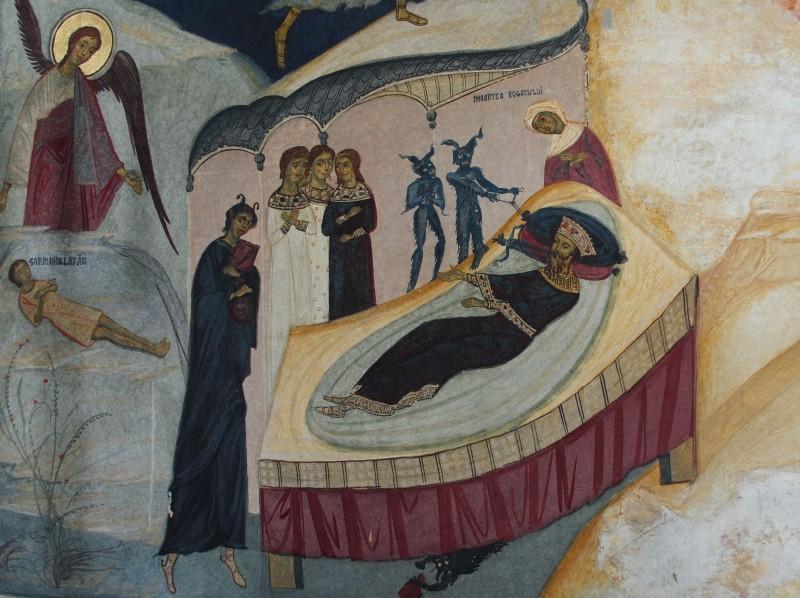 Manastirea-Tismana-Moartea-Bogatului-Pridvor